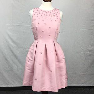 Ted Baker Embellished Pink Skater Dress